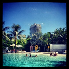 Photo taken at Pool at The Standard Spa, Miami Beach by Philippo G. on 10/20/2012