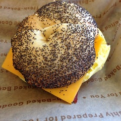Photo taken at Einstein Bros Bagels by Leo L. on 7/11/2014