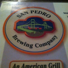 Photo taken at San Pedro Brewing Company by Annie M. on 1/17/2013