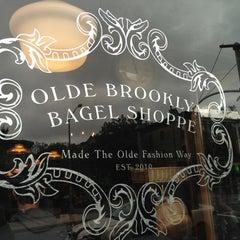 Photo taken at Olde Brooklyn Bagel Shoppe by Pete on 9/29/2012