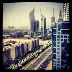 Photo taken at Fairmont Dubai by Meem on 7/3/2013