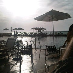 Photo taken at Hilton Pool by Josh S. on 11/3/2012