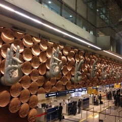 Photo taken at Indira Gandhi International Airport (DEL) by Zavodskaya on 1/20/2013