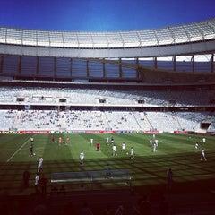 Photo taken at Cape Town Stadium by Simon L. on 11/11/2012