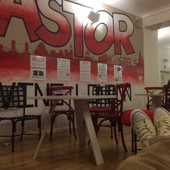 Photo taken at Astor Hyde Park Hostel by Jonathan on 4/18/2014