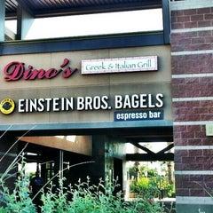 Photo taken at Einstein Bros Bagels by Miguel Angel V. on 10/2/2012