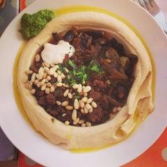 Photo taken at Reggev Hummus by Maria H. on 7/24/2013