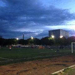 Photo taken at Cancha de Futbol de la Delegación Benito Juarez by Arturo on 10/31/2012