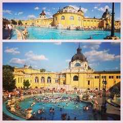 Photo taken at Széchenyi Gyógyfürdő és Uszoda by Nick M. on 7/16/2013