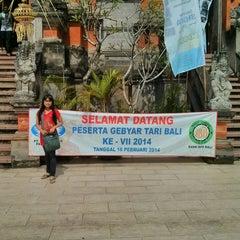 Photo taken at Panggung Terbuka Balai Budaya Gianyar by Agung P. on 2/16/2014
