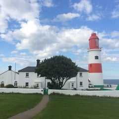 Photo taken at Souter Lighthouse by Daniela on 8/24/2014