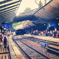 Photo taken at Bahnhof Zürich Stadelhofen by Ya G. on 8/27/2013