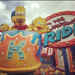 Photo taken at The Simpsons Ride by Kory A. on 5/31/2013