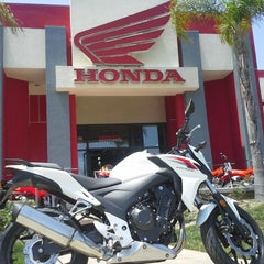 Photo taken at Huntington Beach Honda Motorcycles by Huntington H. on 5/4/2013