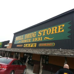 Photo taken at Wall Drug by Jason D. on 2/9/2015