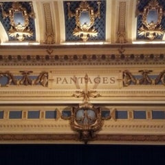 Photo taken at Pantages Theatre by Shannon H. on 1/27/2013