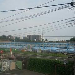Photo taken at 千住大橋駅 (Senjuōhashi Sta.) (KS05) by Terumasa O. on 6/30/2013