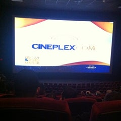 Photo taken at Cineplex Cinemas Courtney Park by Sadaf on 10/7/2012