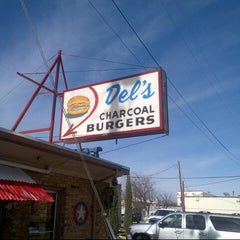 Photo taken at Del's Charcoal Burgers by Jason on 12/15/2012