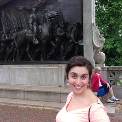 Photo taken at Robert Gould Shaw Memorial by Chris S. on 5/26/2014