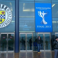 Photo taken at Hampden Park by Alan M. on 3/17/2013