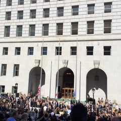 Photo taken at Los Angeles County Hall of Records by Laura J. on 10/8/2014