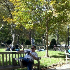 Photo taken at Rittenhouse Square by Mike L. on 10/20/2012