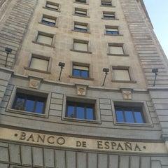 Photo taken at Banco de España by Viena Larissa M. on 10/26/2014