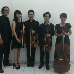 Photo taken at Lembaga Indonesia Perancis (LIP/CCF Yogyakarta) by Stephani P. on 11/24/2014