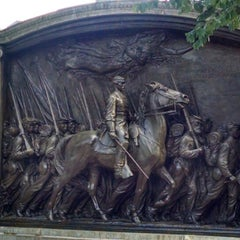 Photo taken at Robert Gould Shaw Memorial by Movie L. on 9/1/2014