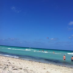 Photo taken at South Beach by Matheus on 4/26/2013