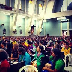 Photo taken at Igreja Nossa Senhora de Fátima e São Jorge by Igor L. on 7/24/2013
