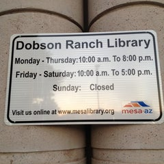 Photo taken at Dobson Ranch Branch Library by Justine B. on 9/21/2012