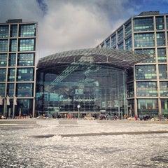 Photo taken at Berlin Hauptbahnhof by Andrés Z. on 3/17/2013
