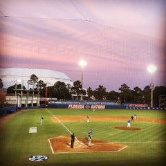 Photo taken at McKethan Stadium at Perry Field by Heather on 5/6/2015