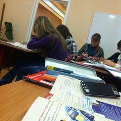 Photo taken at Школа №2016 by Aleksandra K. on 1/28/2013