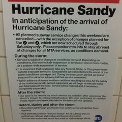 Photo taken at Frankenstorm Apocalypse - Hurricane Sandy by Bruno D. on 10/29/2012