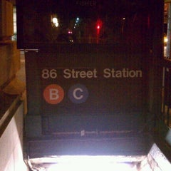 Photo taken at MTA Subway - 86th St (B/C) by Raquel G. on 9/21/2012