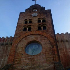 Photo taken at Caleruega Church by Oscar P. on 12/8/2012
