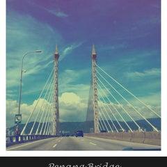 Photo taken at Penang Bridge by Msdella 🐰 on 12/14/2012