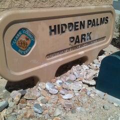 Photo taken at Hidden Palms Park by Jeanne M. on 9/16/2013