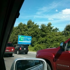 Photo taken at Delaware / Pennsylvania State Line by Mandie S. on 8/15/2013