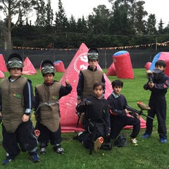 Photo taken at Al Limite Paintball by Leonardo S. on 11/8/2014