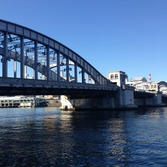 Photo taken at 勝鬨橋 by takesan a. on 12/12/2012