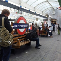 Photo taken at Hammersmith London Underground Station (District and Piccadilly lines) by Antonio D. on 10/20/2012