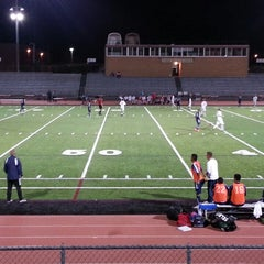 Photo taken at Garry Berry Stadium by Tom M. on 10/2/2013