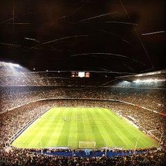 Photo taken at Camp Nou by Kseniya T. on 5/12/2013