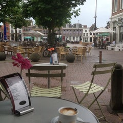 Photo taken at Grand Cafe Halewijn by Joet H. on 6/8/2014