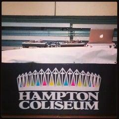 Photo taken at Hampton Coliseum by Dj Mista C. on 4/14/2013