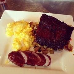 Photo taken at MexiBBQ Kitchen & Draught by Stephanie V. on 4/14/2013